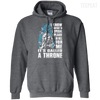 CustomCat Apparel Pullover Hoodie 8 oz / Dark Heather / Small A Throne Tee