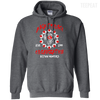 CustomCat Apparel Pullover Hoodie 8 oz / Dark Heather / Small Akatsuki Organization Tee