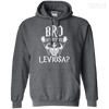 CustomCat Apparel Pullover Hoodie 8 oz / Dark Heather / Small Bro Do You Even Leviosa Tee