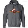 CustomCat Apparel Pullover Hoodie 8 oz / Dark Heather / Small Captain Pulse Dark Tee