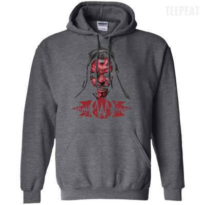 CustomCat Apparel Pullover Hoodie 8 oz / Dark Heather / Small Darth Maul Pulse Tee