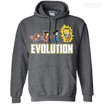 CustomCat Apparel Pullover Hoodie 8 oz / Dark Heather / Small DBZ - Saiyan Evolution Tee