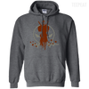 CustomCat Apparel Pullover Hoodie 8 oz / Dark Heather / Small Deadpool Pulse Dark Tee