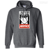 CustomCat Apparel Pullover Hoodie 8 oz / Dark Heather / Small Death Note Justice Tee