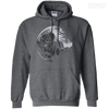 CustomCat Apparel Pullover Hoodie 8 oz / Dark Heather / Small Death Star Tee