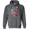 CustomCat Apparel Pullover Hoodie 8 oz / Dark Heather / Small Do You Bleed Tee