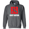 CustomCat Apparel Pullover Hoodie 8 oz / Dark Heather / Small Dota 2 Easy Katka Tee