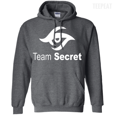 CustomCat Apparel Pullover Hoodie 8 oz / Dark Heather / Small Dota 2 Team Secret Tee