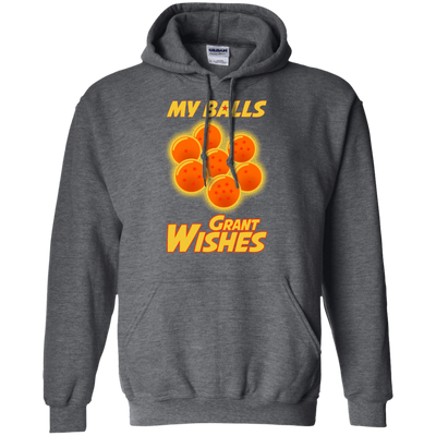 CustomCat Apparel Pullover Hoodie 8 oz / Dark Heather / Small Dragon Ball Z Grant Wishes Tee