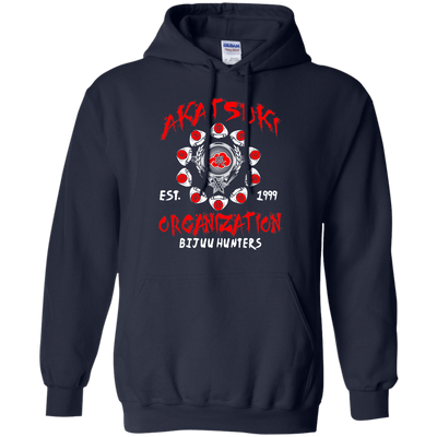 CustomCat Apparel Pullover Hoodie 8 oz / Navy / Small Akatsuki Organization Tee