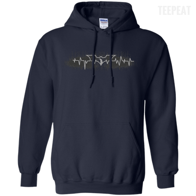 CustomCat Apparel Pullover Hoodie 8 oz / Navy / Small Bat Pulse Tee
