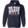 CustomCat Apparel Pullover Hoodie 8 oz / Navy / Small Be Nice Tee