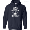 CustomCat Apparel Pullover Hoodie 8 oz / Navy / Small Bro Do You Even Leviosa Tee