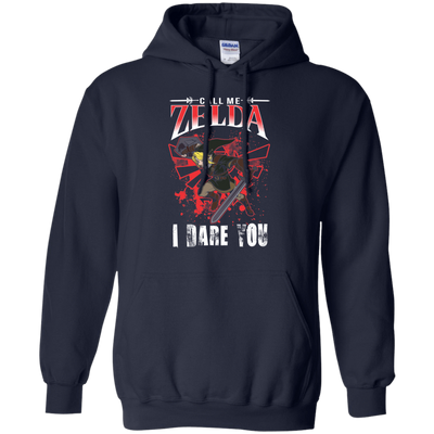 CustomCat Apparel Pullover Hoodie 8 oz / Navy / Small Call Me Zelda I Dare You Tee