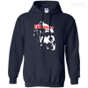 CustomCat Apparel Pullover Hoodie 8 oz / Navy / Small Captain America Language Tee