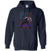 CustomCat Apparel Pullover Hoodie 8 oz / Navy / Small Captain America Tee