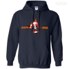 CustomCat Apparel Pullover Hoodie 8 oz / Navy / Small Captain Pulse Dark Tee