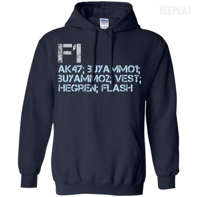 CustomCat Apparel Pullover Hoodie 8 oz / Navy / Small Counter Strike Buy AK47 Blue Tee