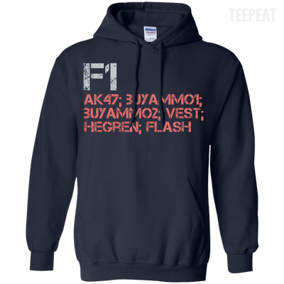 CustomCat Apparel Pullover Hoodie 8 oz / Navy / Small Counter Strike Buy AK47 Red Tee
