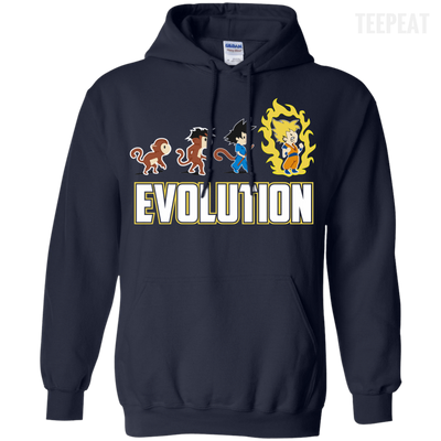 CustomCat Apparel Pullover Hoodie 8 oz / Navy / Small DBZ - Saiyan Evolution Tee