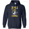 CustomCat Apparel Pullover Hoodie 8 oz / Navy / Small DBZ - Vegeta's Throne Tee