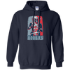 CustomCat Apparel Pullover Hoodie 8 oz / Navy / Small Deadpool Boobies Tee