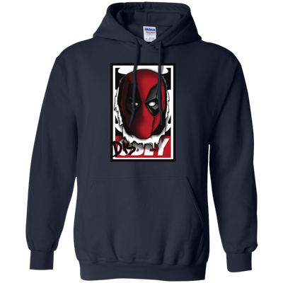 CustomCat Apparel Pullover Hoodie 8 oz / Navy / Small Deadpool DisOBEY Tee