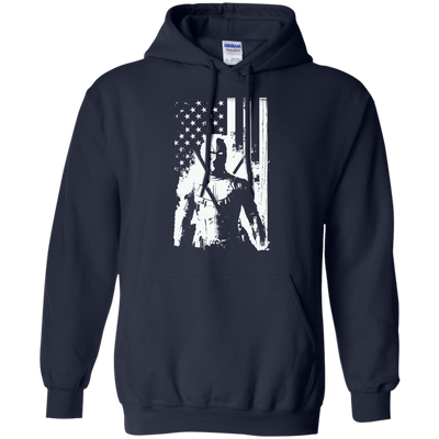 CustomCat Apparel Pullover Hoodie 8 oz / Navy / Small Deadpool Flag Tee