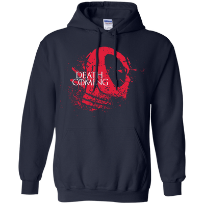 CustomCat Apparel Pullover Hoodie 8 oz / Navy / Small Death is Coming Tee