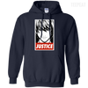 CustomCat Apparel Pullover Hoodie 8 oz / Navy / Small Death Note Justice Tee