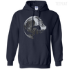 CustomCat Apparel Pullover Hoodie 8 oz / Navy / Small Death Star Tee