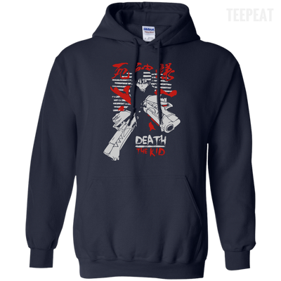 CustomCat Apparel Pullover Hoodie 8 oz / Navy / Small Death the Kid Tee V2