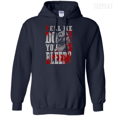 CustomCat Apparel Pullover Hoodie 8 oz / Navy / Small Do You Bleed Tee