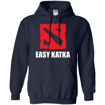 CustomCat Apparel Pullover Hoodie 8 oz / Navy / Small Dota 2 Easy Katka Tee