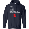 CustomCat Apparel Pullover Hoodie 8 oz / Navy / Small Dota 2 END Tee