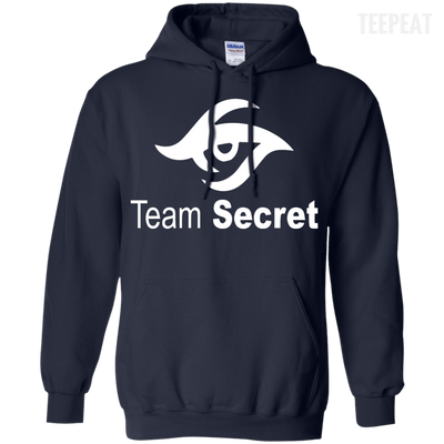 CustomCat Apparel Pullover Hoodie 8 oz / Navy / Small Dota 2 Team Secret Tee