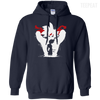 CustomCat Apparel Pullover Hoodie 8 oz / Navy / Small Dragon Ball Z Bardock Tee