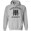 CustomCat Apparel Pullover Hoodie 8 oz / Sport Grey / Small Dark Knight Academy Tee