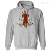 CustomCat Apparel Pullover Hoodie 8 oz / Sport Grey / Small Deadpool Pulse Light Tee