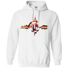 CustomCat Apparel Pullover Hoodie 8 oz / White / Small Captain Pulse Ligth Tee