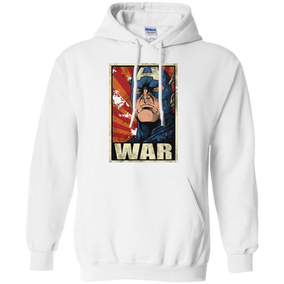 CustomCat Apparel Pullover Hoodie 8 oz / White / Small Captain War Light Tee