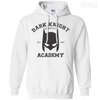 CustomCat Apparel Pullover Hoodie 8 oz / White / Small Dark Knight Academy Tee