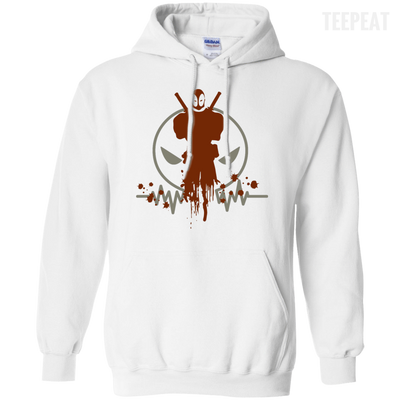 CustomCat Apparel Pullover Hoodie 8 oz / White / Small Deadpool Pulse Light Tee
