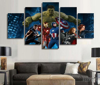 DF Canvas Avengers Painting - 5 Piece Canvas LIMITED EDITION