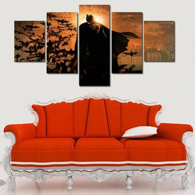 DF Canvas Large / Unframed Batman - Begins - 5 Piece Canvas Painting LIMITED EDITION