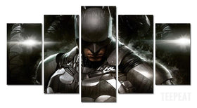 DF Canvas Large / Framed Batman - Batmobile - 5 Piece Canvas Painting LIMITED EDITION