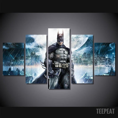 DF Canvas Medium / Unframed Batman Painting - 5 Piece Canvas LIMITED EDITION