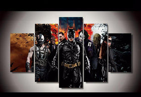 DF Canvas Medium / Unframed Dark Knight: Characters - 5 Piece Canvas LIMITED EDITION