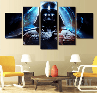 DF Canvas Medium / Unframed Darth Vader Painting - 5 Piece Canvas LIMITED EDITION