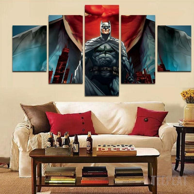 DF Canvas Unframed / Medium Batman - Red Hood - 5 Piece Canvas Painting LIMITED EDITION